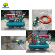 Diesel Piston Air Type Compressor dengan Jack Hammer
