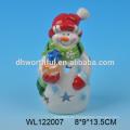 2016 Fabrik direkt neue Keramik Weihnachtsdekoration der Schneemann Figur
