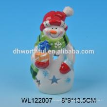 2016 fábrica diretamente nova decoração de Natal de cerâmica de figurine boneco de neve