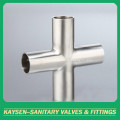 ISO/IDF Sanitary welded cross pipe fittings