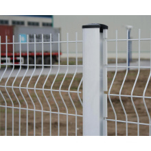 White Color Welded Wire Fencing with Peach Post