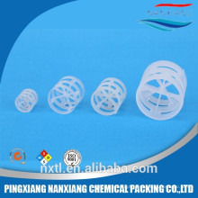 China best price Polypropylene Hiflow Ring in wet scrubbing tower white PP Pall ring(25mm, 38mm, 50mm, 80mm )