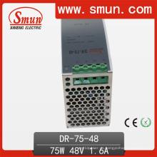 Fuente de alimentación conmutada de 75W Dinrail 24VDC3a