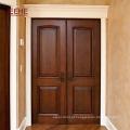 Boa qualidade porta dupla porta da frente projetos da porta de madeira maciça
