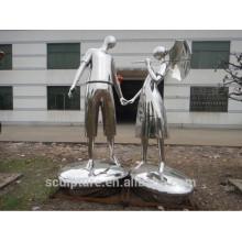 Technique polie et thème moderne sculpture en métal