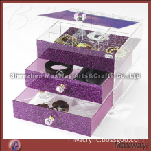Pink Acrylic Cosmetic Box for Pretty Girls