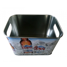 Square Ice Bucket with internal handle