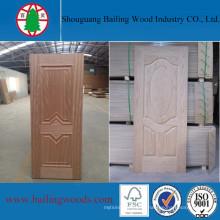 Revêtement de porte intérieur décoratif en bois moulé HDF
