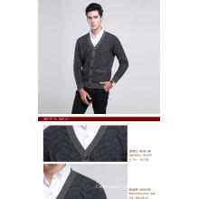 Yak lã / cashmere V Neck Cardigan camisola de manga longa / vestuário / malhas / vestuário