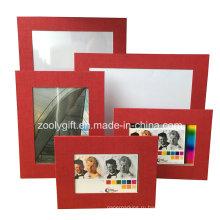 Ассорти из цветной красной текстурированной бумаги для искусства Рекламная подарочная рамка для фотографий