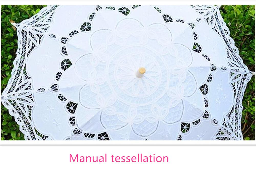 Handtailor high-end lace wedding umbrella cover
