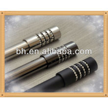 Zinc Cast con cuentas de diamante Beverly Drapery Cortina Rod