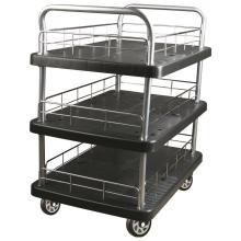 300kgs triple layers Platform Hand Trolley (hitam)
