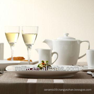 High quality Emmy style square dinner set, porcelain dinnerware set