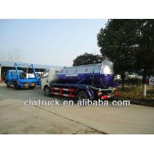 6 toneladas camión de aguas residuales, dongfeng camión de aspiración de aguas residuales