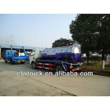 Caminhão de esgoto de 6 toneladas, caminhão de sucção do esgoto do dongfeng