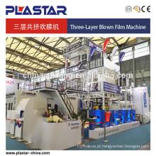Três camadas Co-extrusão Fundida Film Machine 1500mm