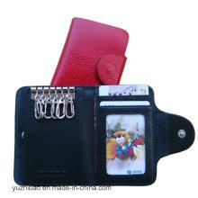 Beliebte Leahter Schlüsselanhänger Schlüsselanhänger Keycase Wallet (EY-006)