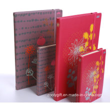 High Quality A6 / A5 Silk Printing PU Leather Agenda Notebook with Elastic Strap Closure