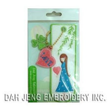 Exquisite Bookmarks with Embroidered Charms (00880130ABC)