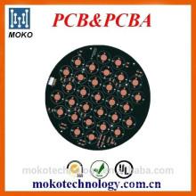 Produção de fábrica OEM levou placa de alumínio pcb