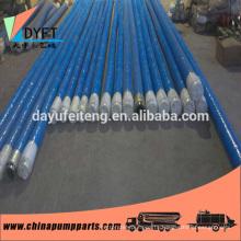 concrete pump flexible hose elba DN125*5m concrete pump end hose (Reinforced with 4 steel layers)