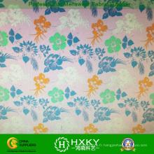 Le tissu imprimé par polyester de peau de pêche a imprimé le tissu de mousseline de soie pour des vêtements