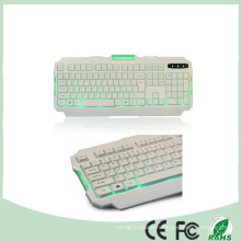 Ce RoHS Certificate 104 Keys Green LED Backlight Backlit Gaming Keyboard Multimedia (KB-1901EL-G)