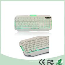 Ce Certificado RoHS 104 Teclas LED verde Backlight Backlit Gaming Keyboard Multimedia (KB-1901EL-G)