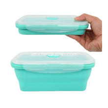 FDA Värmebeständig Hot Selling Silicone Foldbar Lunch Box