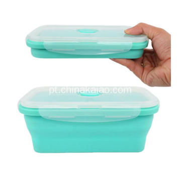 FDA Heat-resistant Hot Selling Silicone Reapsível Lunch Box