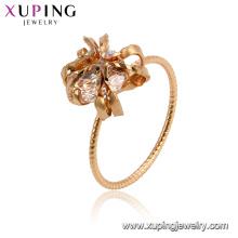 15478 xuping 18 k banhado a ouro funky design de luxo estilo imitação de cristal mulheres anel