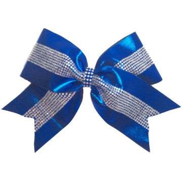 Plaid rhinestone pattern for cheer bow strips