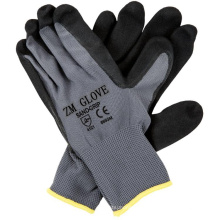 13 Gauge Polyester Liner Black Sandy Nitrile Coated Gloves With Palm Dipped