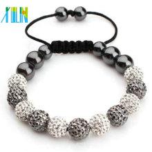 Günstige Mode Schnur Armband mit Shamballa Perlen XLSBL044