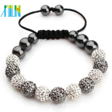 Cheap Fashion cord Bracelet with shamballa beads XLSBL044