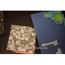 Superficie de acabado de mármol / aspecto de piedra Pared decorativa de compuesto de aluminio Peso ligero de panel