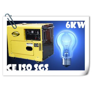Haute qualité! Générateur Diesel 5.5kw Protable