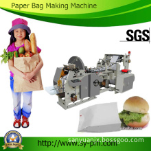 Ruian Sanyuan Professional Produce Automatic Sharp Bottom Paper Food Bag Making Machine Price with Printing Function (70-270 mm width)