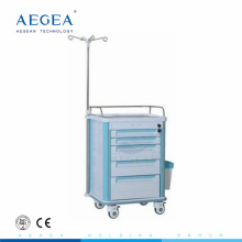 AG-IT004A1 Five drawers hospital economic clinic infusion plastic drawer trolley for sales