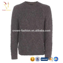 Winter Warm Cable Knit Turtleneck Cashmere Sweater for Men