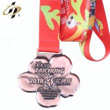 Diseño de metal barato de fábrica de China sus propias medallas de maratón