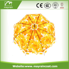 Yellow Color Auto Open Straight Umbrella