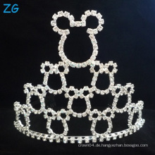 Nette Entwurfs-Diamant-Festzug-Krone Mickey Krone