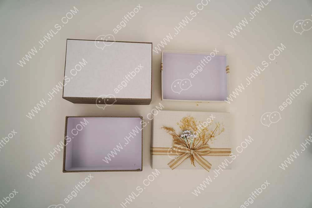 Light gray gift box