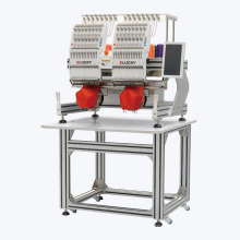Elucky 2 têtes machine de broderie de couture d'ordinateur industriel à vendre