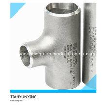 ANSI sin costuras Ss304 Ss316 Igual de acero inoxidable Tee