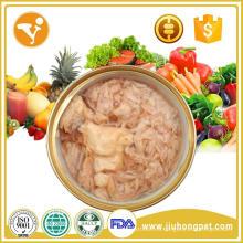Alimentos húmedos vendedores calientes deliciosos y naturales del alimento de la alta proteína de la carne de vaca para los perros y los gatos