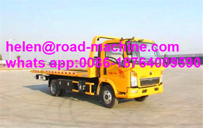 Flat Bed LHD Road Rescue Wrecker Truck