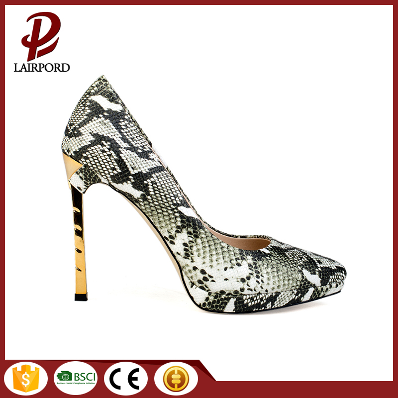 green serpentine thin high heel women sheos